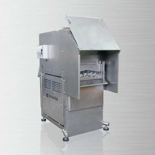 Guillotine cutting for frozen produce H-5
